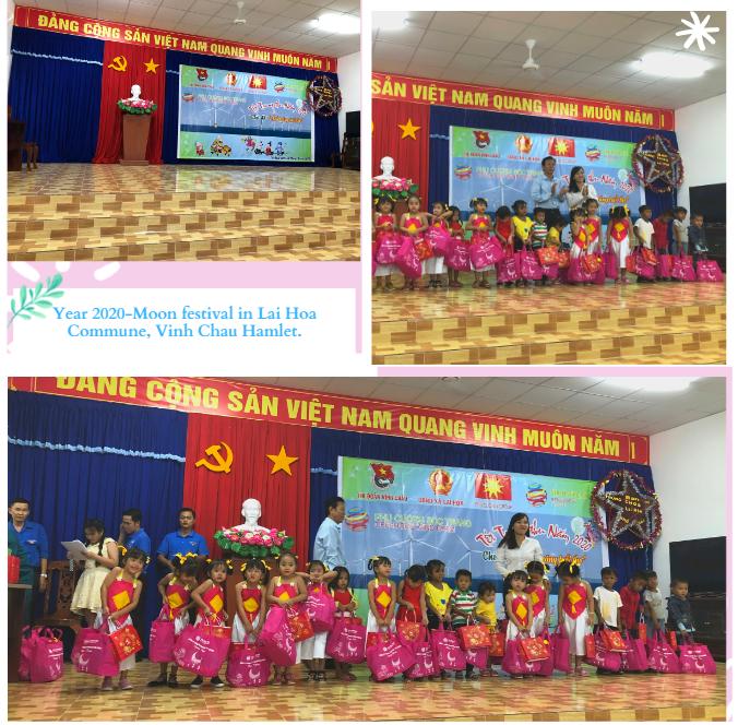 Sponsorship of the Mid-Autumn Festival in Lai Hoa commune, Vinh Chau Hamlet.